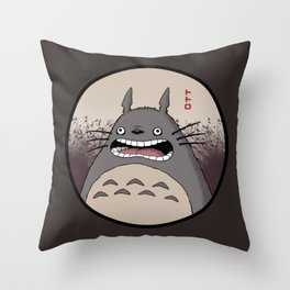 Frantic Forest Spirit Throw Pillow