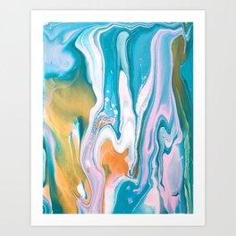 Mermaid Bubbles  Art Print