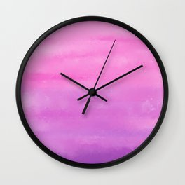 Sunset Clouds Abstract Wall Clock