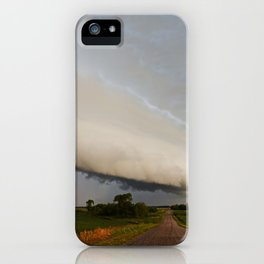 Shelf Cloud Over Country Road 2 iPhone Case