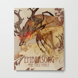 Embersong: the stag Metal Print