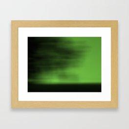 Blurred Sky-Green Framed Art Print