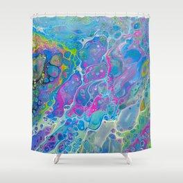 Acrylic Pour - Rainbow Paddle Pop Shower Curtain