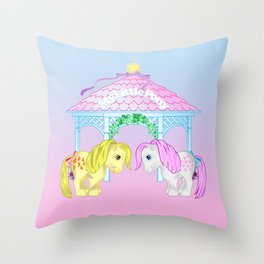 g1 my little pony snuzzle and butterscotch Throw Pillow