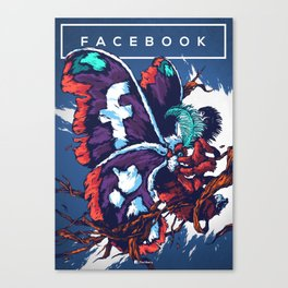 Social Networks / Facebook Canvas Print