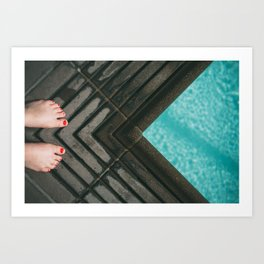 Ready to jump in Art Print
