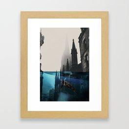 City under water Framed Art Print