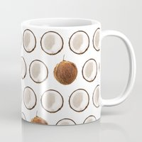 coconut wishes Mugs featuring Coconut by GOLDASTIC