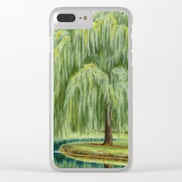 Under The Willow Tree by Sarah Batalka Clear iPhone Case