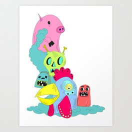 chanchito & cia Art Print