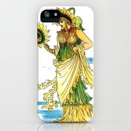Vintage Sunflower Lady Goddess iPhone Case
