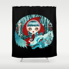 Red of the Woods Shower Curtain