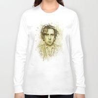 tim shumate Long Sleeve T-shirts featuring Tim Burton by Renato Cunha