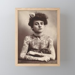 Vintage Photo of Tattooed Woman Maud Wagner, 1911 Framed Mini Art Print