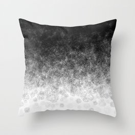 Disappearing Fog - Black and White Gradient Throw Pillow