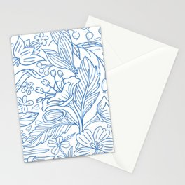 Cute Seamless Floral Blossom Pattern Stationery Cards
