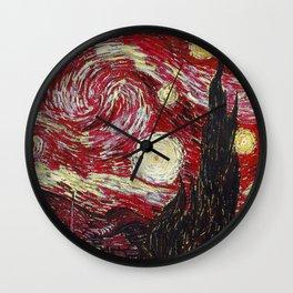 Fiery Night Wall Clock