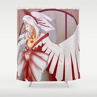 wings Shower Curtains featuring Wings by Tee-chew