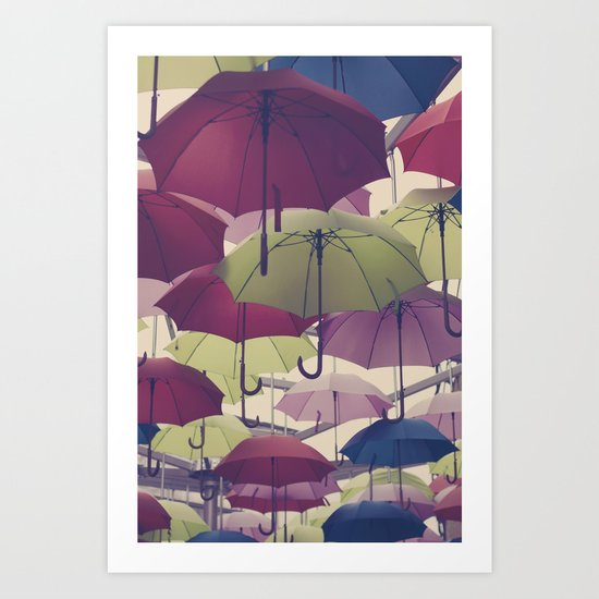 Why does it always rain on me? Art Print