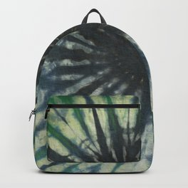 Tie Dye in Blue and Green 14 Backpack