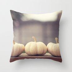 Ghost Pumpkins Throw Pillow