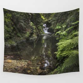 Double Falls  Quinault Rain Forest Wall Tapestry