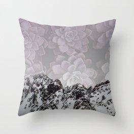 Succulent Mountains Throw Pillow