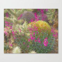 Romantic Cactus Garden Canvas Print