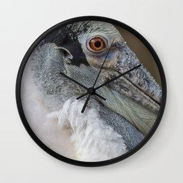 Roseate Spoonbill Portrait I Wall Clock