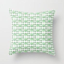 Mint Leaf Herbal Tea Vegetation Pattern Throw Pillow