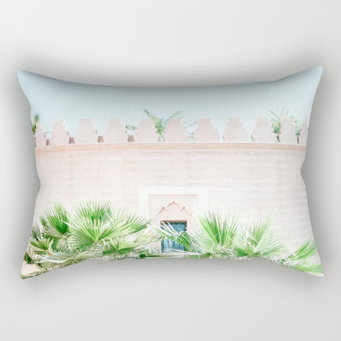 """Travel photography print """"Magical Marrakech"""" photo art made in Morocco. Pastel colored. Rectangular Pillow"""