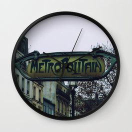Metropolitain Wall Clock
