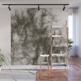 Gray Marble Pattern Black And Silver Vined Wall Mural