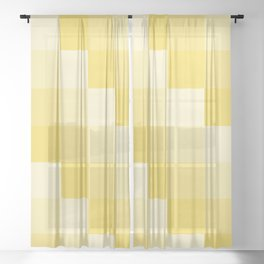 Four Shades of Yellow Square Sheer Curtain