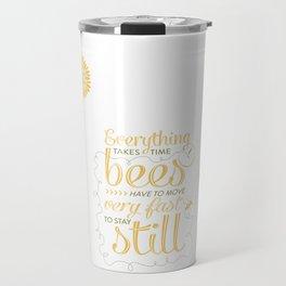 David Foster Wallace on Bees  Travel Mug