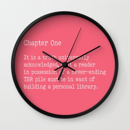 Chapter One - Pink Wall Clock