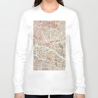 berlin Long Sleeve T-shirts featuring Berlin by Mapsland