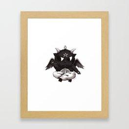 Black Cathomet Framed Art Print