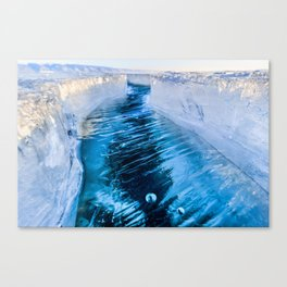 The crack of Baikal ice Canvas Print