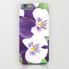 Pansies flowers iPhone 6 Slim Case