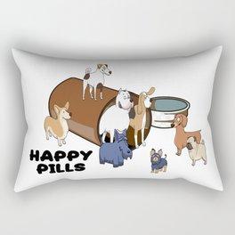Dogs are my Happy Pills Rectangular Pillow