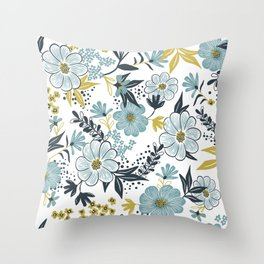 Harper - Dusk Blue Throw Pillow