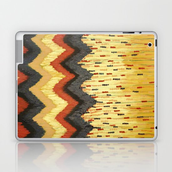 SHINE ON - Gold Glam Chevron Colorful Abstract Acrylic Pattern Painting Modern Home Decor Fine Art Laptop & iPad Skin