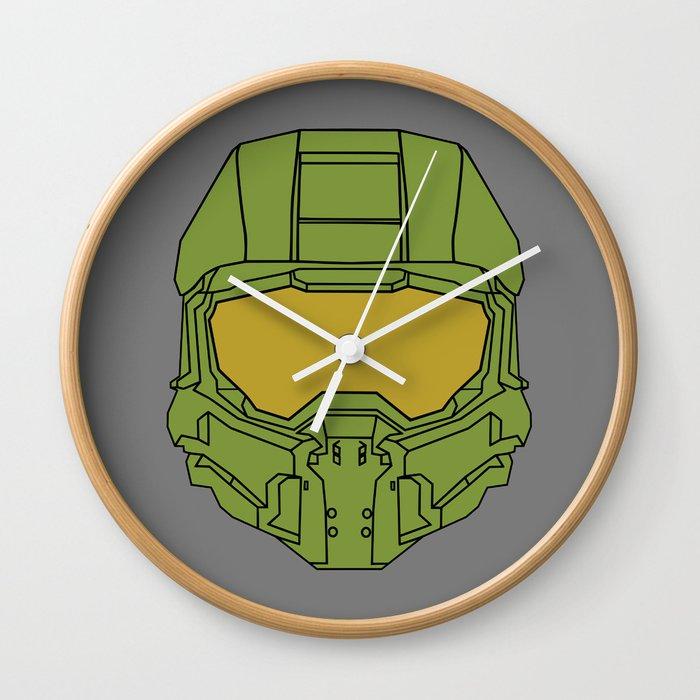 Master Chief Helmet - Halo MCC Wall Clock by robokev