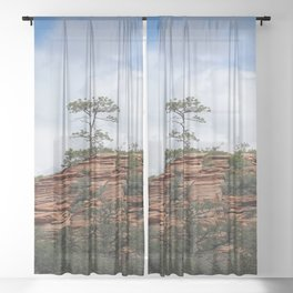 Zion Geology Sheer Curtain