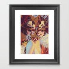 frame of mind *collage Framed Art Print