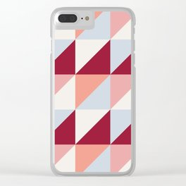 Trio (maroon) Clear iPhone Case