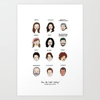gilmore girls Art Prints featuring Gilmore Girls Mood Chart by Tyler Feder