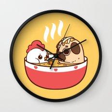 Chicken Noodle Puglie Soup Wall Clock