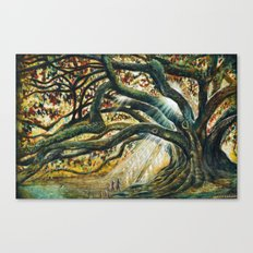 Earth & heaven meeting  Canvas Print